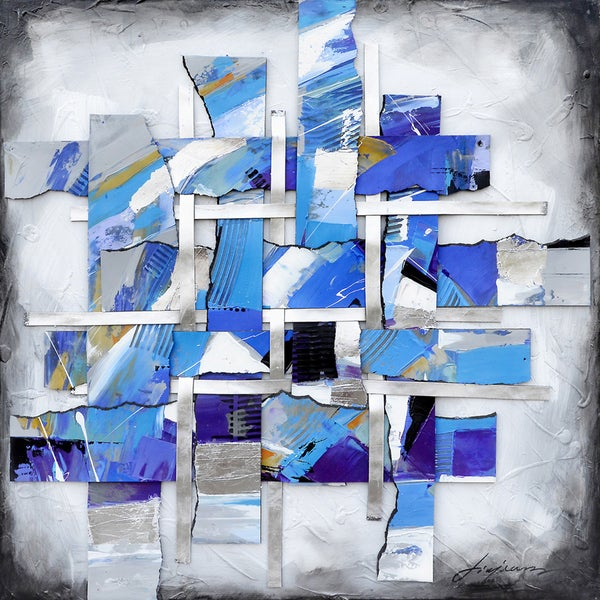 Movement In Blue I Original Hand painted Wall Art
