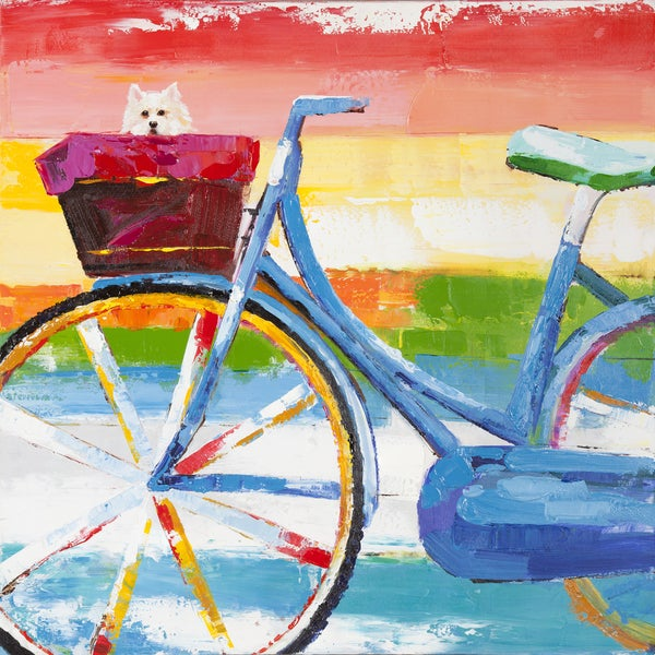 Summer Biking Original Hand painted Wall Art