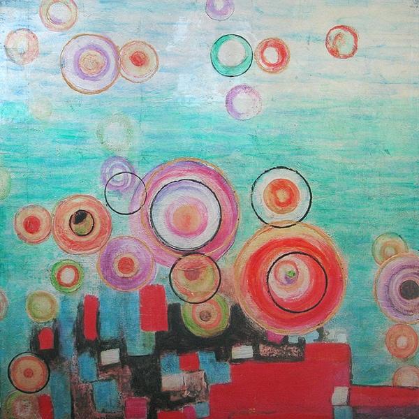 Bright Bubbles Original Hand painted Wall Art