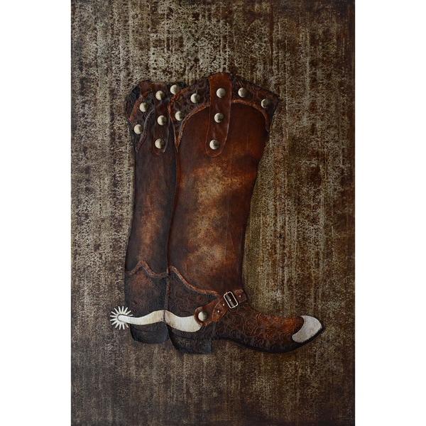 Cowboy Boots Original Hand painted Wall Art