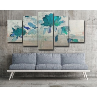 Ready2hangart Alexis Bueno 'Painted Petals IV-B' 5-piece Canvas Wall Art Set