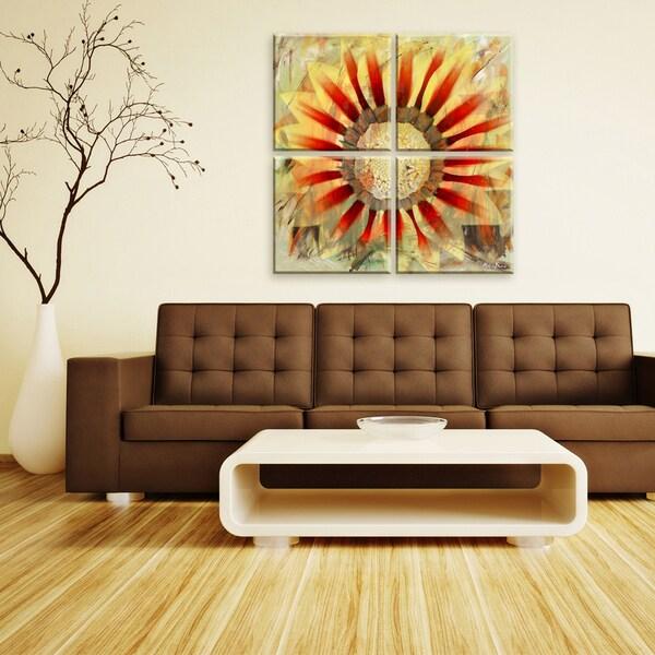 4 Piece Giolla Wall Decor Set : Ready hangart alexis bueno painted petals xlv piece