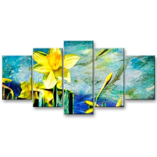 Ready2hangart Alexis Bueno 'Painted Petals VII' 5-piece Canvas Wall Art