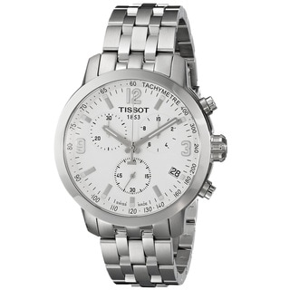 Tissot Men's 'PRC 200' Chronograph Stainless Steel Watch