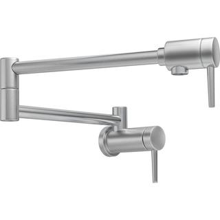 Delta Transitional Wall-mount Pot Filler Arctic Stainless Kitchen Faucet