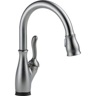 Delta Leland Single-handle Pull-down with Touch2O(R) Technology Arctic Stainless Kitchen Faucet