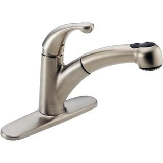 Delta Palo Single-handle Pull-out Brilliance Stainless Kitchen Faucet