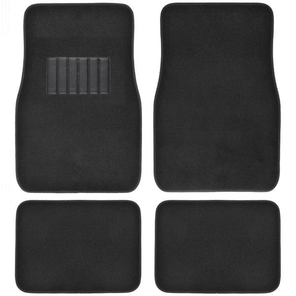 BDK Black 4-piece Car Floor Mat Set