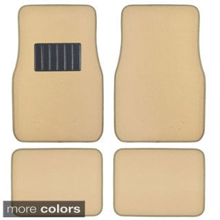 BDK Beige 4-piece Car Floor Mat Set