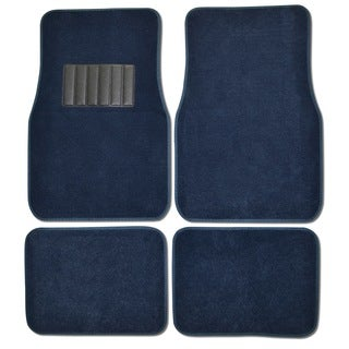 BDK Blue 4-piece Car Floor Mat Set