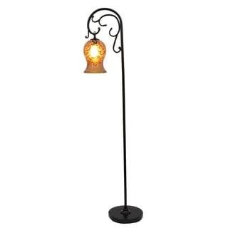 Textured Bronze Floor Lamp, 64-inch