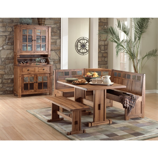 Sunny Designs Rustic Oak Breakfast Nook