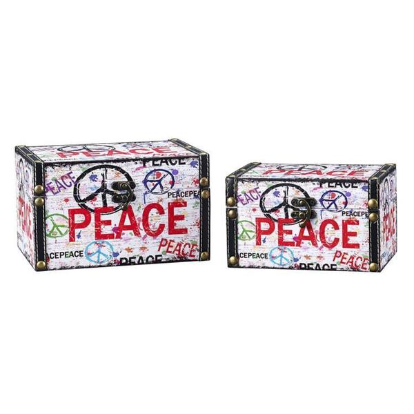Household Essentials Peace Design Trunk (Set of 2)