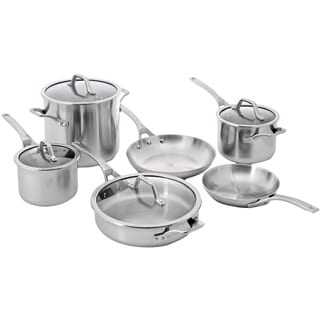 Calphalon AccuCore Stainless Steel 10-piece Cookware Set