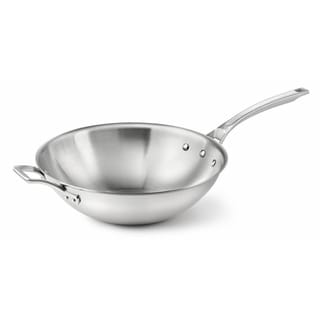 Calphalon AccuCore Stainless Steel 12-inch Flat Bottom Wok