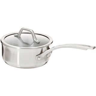 Calphalon AccuCore Stainless Steel 2.5-quart Shallow Sauce Pan with Cover
