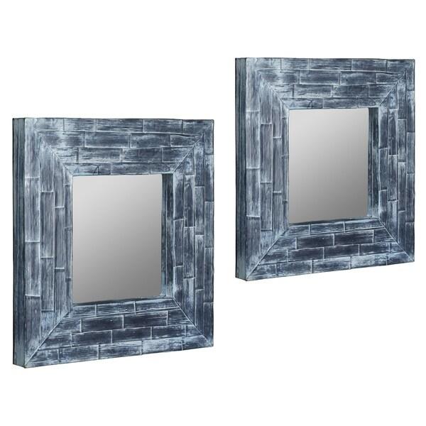 Bito Blue Washed Mirrors (Set of 2)