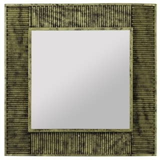 Jordan Antique Gold Finish Square Mirror