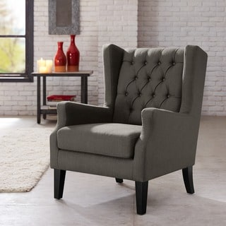 Safavieh sutton tufted beige arm chair 13887075 for Bellagio button tufted leather brown chaise