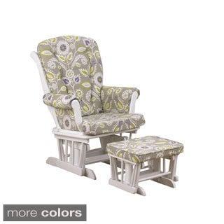 Cotton Tale 'Periwinkle Collection' Floral Glider with Ottoman