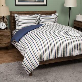 Hyde Park 100-percent Cotton Print 3-piece Duvet Set