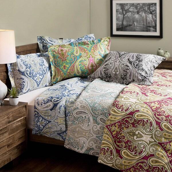 Crystal Palace 100 Percent Cotton Print 3 Piece Duvet Set