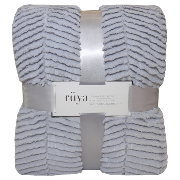 Ruya Textured Faux Fur Throw