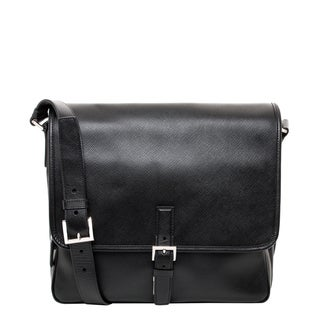 Prada Saffiano Cuir Leather Messenger Bag