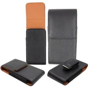 Insten Black Premium Vertical Pouch Phone Case Cover With Magnetic Flip/ Belt Clip For Apple iPhone 6 Plus/ 6+
