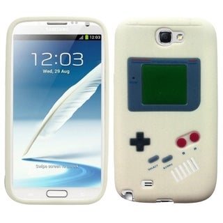 Insten White 3D Gameboy Rubber Soft Silicone Skin Gel Phone Case Cover For Samsung Galaxy Note II