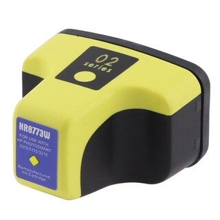 INSTEN Inkjet for HP 02 Yellow Ink Cartridge C8773WN (Remanufactured)