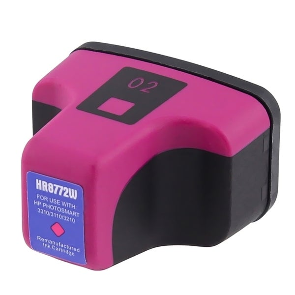 INSTEN Inkjet for HP 02 Magenta Ink Cartridge C8772WN (Remanufactured)