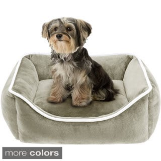 Simmons Beautyrest Chance Plush Rectangular Cuddler Pet Bed