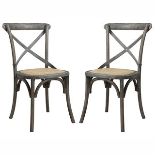 angelo:HOME Cadwell Antique Burnt Oak Finish Dining Chairs (Set of 2)