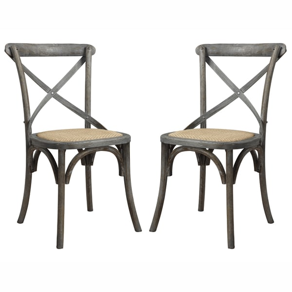 angelo HOME Cadwell Antique Burnt Oak Finish Dining Chairs