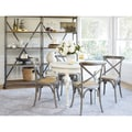 angelo:HOME Hillgate 5 Piece Dining Set in Antique White with Burnt Oak Chairs
