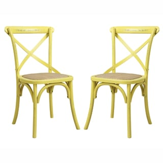 angelo:HOME Cadwell Antique Yellow Dining Chairs (Set of 2)