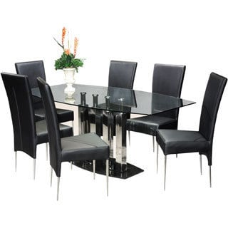Somette Bella Black Marble Dining Table