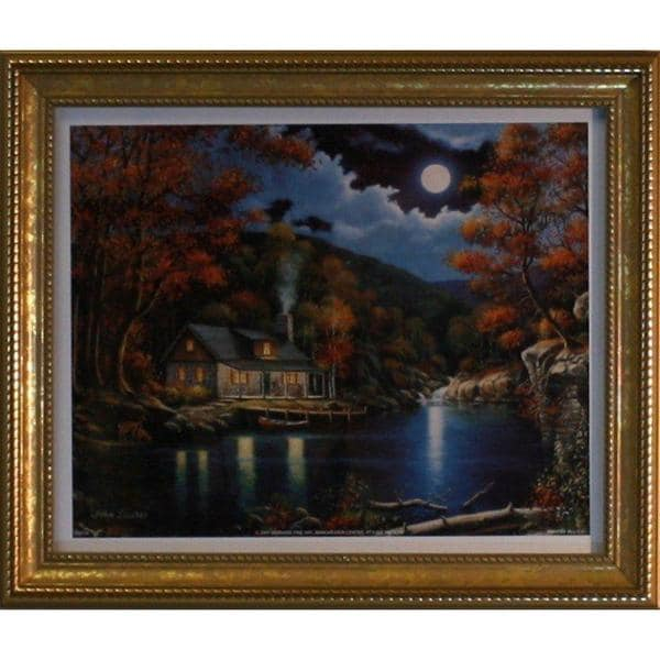 John Zaccheo 'Moonlight Retreat' Gold Framed Art Print
