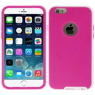 Insten Hot Pink TPU Rubber/ PC Phone Case Cover For Apple iPhone 6 Plus