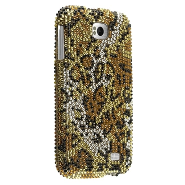Insten Cheetah Rhinestone Diamond Bling Hard Plastic Slim Snap-on Phone Case Cover For BLU Studio 5.3 II