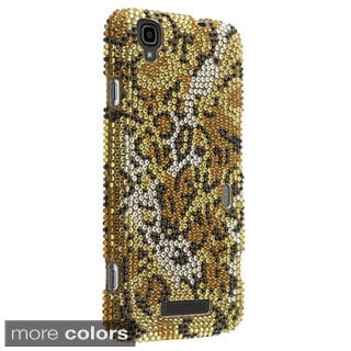 Insten Cheetah Rhinestone Diamond Bling Hard Plastic Slim Snap-on Phone Case Cover For ZTE Max N9520