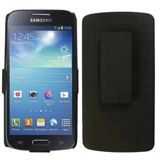 Insten Black Rubberized Hard Plastic Slim Snap-on Holster Phone Case Cover For Samsung Galaxy S4 Mini GT-I9190