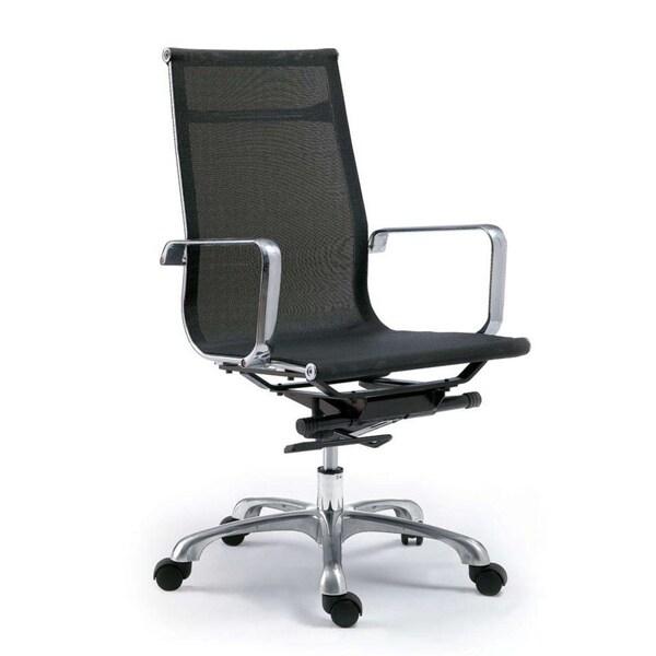 Aurelle Home Dario Black High Back Office Chair (Set of 2)