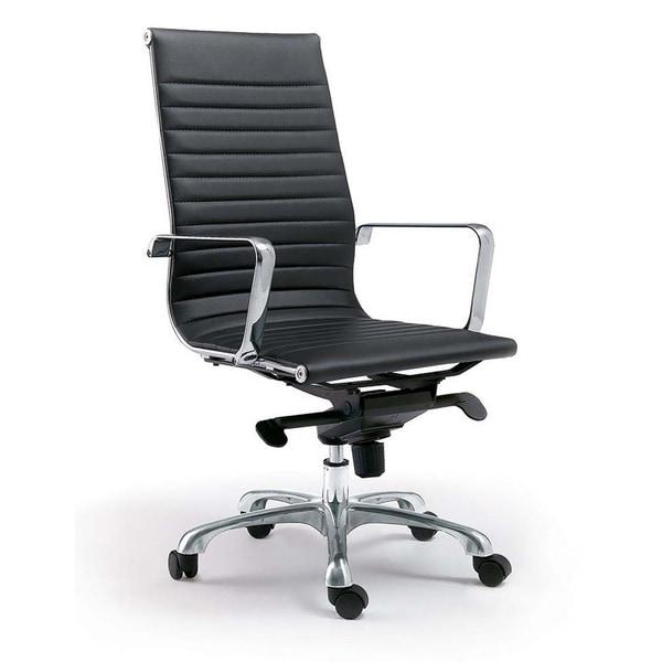 Aurelle Home Black High Back Office Chair (Set of 2)