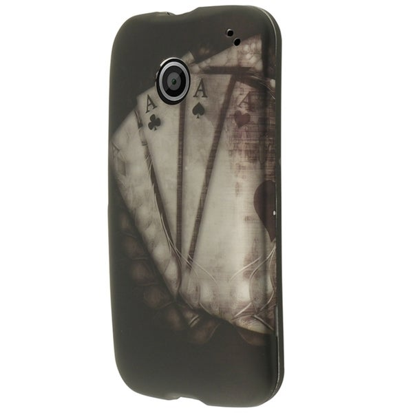 Insten Vintage Ace Rubberized Hard Plastic Slim Snap-on Phone Case Cover For Motorola Moto E