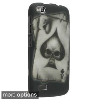 Insten Spade Skull Rubberized Hard Plastic Slim Snap-on Phone Case Cover For BLU Life Play