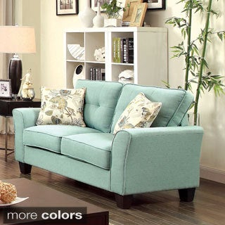 Furniture of America Primavera Modern Linen Loveseat
