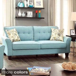 Furniture of America Primavera Modern Linen Sofa