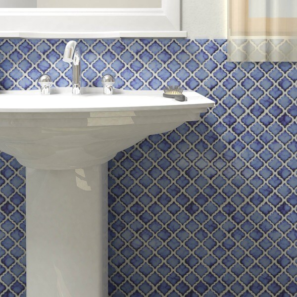 Antaeus Sapphire Porcelain Mosaic Floor And Wall Tile